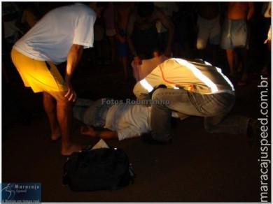 Motoqueiro cai sozinho na Vila Adrien