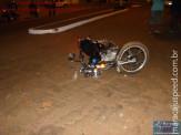 Colisão entre veículo Fusca e Moto na Avenida Marechal Deodoro em Maracaju