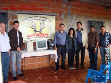 Deputado Reinaldo Azambuja doa três Micros Computadores para entidades de Maracaju e Vista Alegre