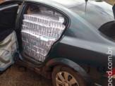 Maracaju: PRE apreende veículo Vectra carregado de cigarro