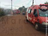 Maracaju: Bombeiros atendem ocorrência, onde mulher foi vítima de agressão por queimadura