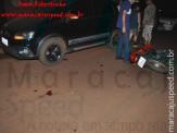 Maracaju: Motociclista tem joelho esfacelado após colidir com veículo estacionado