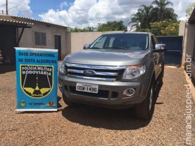 Maracaju: PRE BOP Vista Alegre recupera caminhonete furtada em Belo Horizonte e prende condutor e batedor em flagrante por receptação
