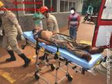 Maracaju: Bombeiros atendem ocorrência onde indígena possivelmente teria sua língua arrancada na faca e seu estado de saúde é grave