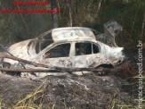 Maracaju: Veículo pega fogo após acidente na Rodovia MS-157, que interliga Maracaju a Itaporã