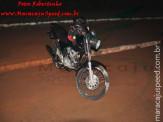 Maracaju: Motociclista colidi com guarda rei da ponte na Av. Marechal Deodoro e se arrasta para acostamento para não ser atropelado