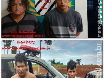 Maracaju: BOPE de Campo Grande localiza outros dois autores de furto de motocicleta ocorrido na cidade de Rio Brilhante