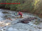 Maracaju: Corpo de Bombeiros realiza resgate de cadáver em avançado estado de decomposição no Rio Cachoeira