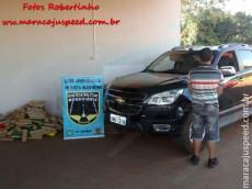 Maracaju: PRE BOP Vista Alegre apreende 185 quilos de maconha e 20 gramas de haxixe em veículo na MS-164