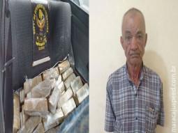 DOF prende idoso de 72 anos por tráfico de drogas na fronteira