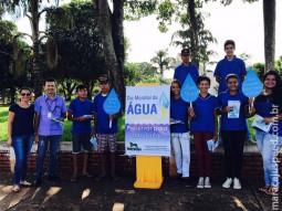 Maracaju comemorou com planfletagem o dia mundial da água