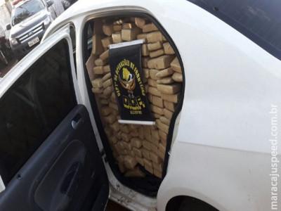 DOF apreende veículo de São Paulo carregado de droga na BR 267
