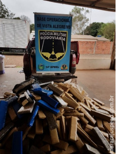 Maracaju: Condutor ao avistar viatura da PRE Distrito Vista Alegre abandona veículo carregado com mais de 680 kg de maconha