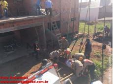 Maracaju: Homem fica preso em baixo de escombros após parte de construção desmoronar