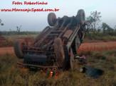 Maracaju: PRE BOP Vista Alegre e Corpo de Bombeiros atendem ocorrência de capotamento de viatura do Exército com militares feridos