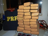 Maracajuense é preso pela PRF em Bataguassu/MS com quase 100 kg de Maconha em pátio de hotel