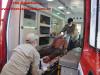 Maracaju: Corpo de Bombeiros atendem ocorrência de esfaqueamento, onde homem foi esfaqueado no pescoço