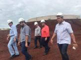 Robert acompanha Secretário de Infraestrutura do Estado em visita a Obra de Tratamento de Esgoto
