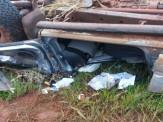 Maracaju: Jovem morre em capotamento na MS-382 e mais duas vítimas ficam feridas