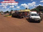 Maracaju: Colisão entre caminhonetes deixa homem ferido na vila Juquita