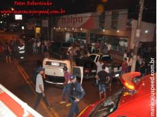 Maracaju: Condutor de veículo fora de controle e em alta velocidade colide com veículos na região central (atualizada)