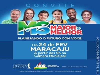 Maracaju receberá evento político no próximo sábado (24), venha participar