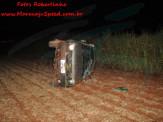 Maracaju: Bombeiros atendem ocorrência de capotamento no minianel rodoviário durante madrugada de domingo