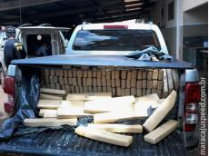 Maracaju: DOF recupera camionete roubada carregada com mais de uma tonelada de droga, após condutor não parar em bloqueio policial