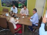 Maracaju: Nova Delegada se reúne com prefeito Maurílio e Secretário de Governo Frederico e Procurador Jurídico Pedro Pessato, dando início aos seus trabalhos