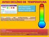 Aviso de Declínio de Temperatura