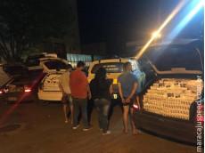 Maracaju: PRE apreende comboio de contrabando de cigarros. Veículos estavam estacionados em frente hotel