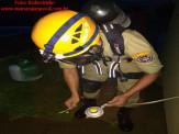Maracaju: Corpo de Bombeiros atendem à ocorrência onde Botijão de Gás teve registro danificado