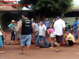 Maracaju: Corpo de Bombeiros atendem acidente de colisão entre motociclista e idoso ciclista na Vila Adrien