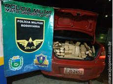 Polícia Militar Rodoviária apreende 204 quilos de maconha após veículo fugir de abordagem