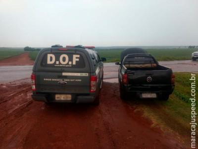 Maracaju: DOF apreende veículo com sinais de identificação adulterados