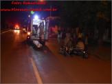 Maracaju: Motociclista leva a pior em atropelamento de cachorro na antiga Rua Campo Grande