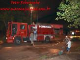 Maracaju: Pela segunda vez Corpo de Bombeiros atendem ocorrência de incêndio em residência na Vila Margarida