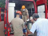Maracaju: Acidente no fim da tarde deixa motociclista com dois cortes contusos na perna esquerda