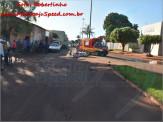 Maracaju: Acidente envolvendo motociclista e veículo na Av. Marechal Deodoro deixa motocicleta destruída e condutora ferida