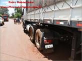 Maracaju: Corpo de Bombeiros atendem ocorrência de acidente, envolvendo motocicleta e carreta estacionada