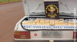 Maracaju: Adolescente foi apreendido pelo DOF transportando 500 pacotes de cigarros contrabandeados do Paraguai