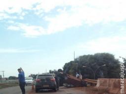 Maracaju: Urgente acidente com capotamento no pontilhão do viaduto