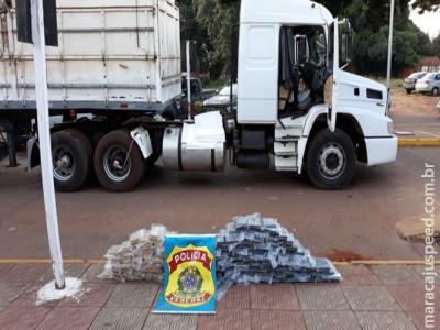 Na 3ª apreensão do dia, PF encontra 158 kg de cocaína em caminhão