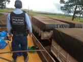 PMR apreende 1,345 toneladas de maconha escondida em carga de grãos de milho na região de fronteira. Autor afirmou ter carregado carga em Maracaju