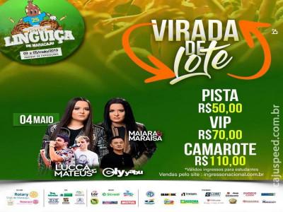 Horários de Shows da 25ª Festa da Linguiça de Maracaju