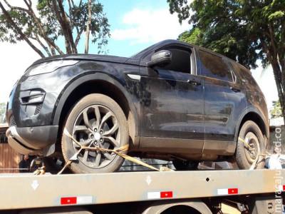 Land Rover Discovery carregado com mais de duzentos quilos de droga foi apreendido pelo DOF na região de Maracaju