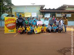 Maracaju: Alunos da Escola Irma de Lima Matos realizam passeata contra dengue