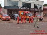 Maracaju: Alunos da Escola José Pereira da Rosa com auxílio da Guarnição do Corpo de Bombeiros realizam panfletagem do Projeto A Criança no Trânsito