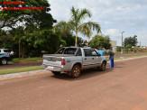 Maracaju: Colisão entre motocicleta e caminhonete deixa condutora com fratura exposta