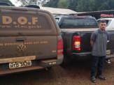Polícia Militar Rodoviária e DOF fecham o cerco e prendem assaltante de caminhonete em Maracaju